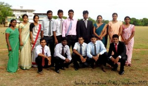 Medical students represented University of Jaffna in SLUG 2013.